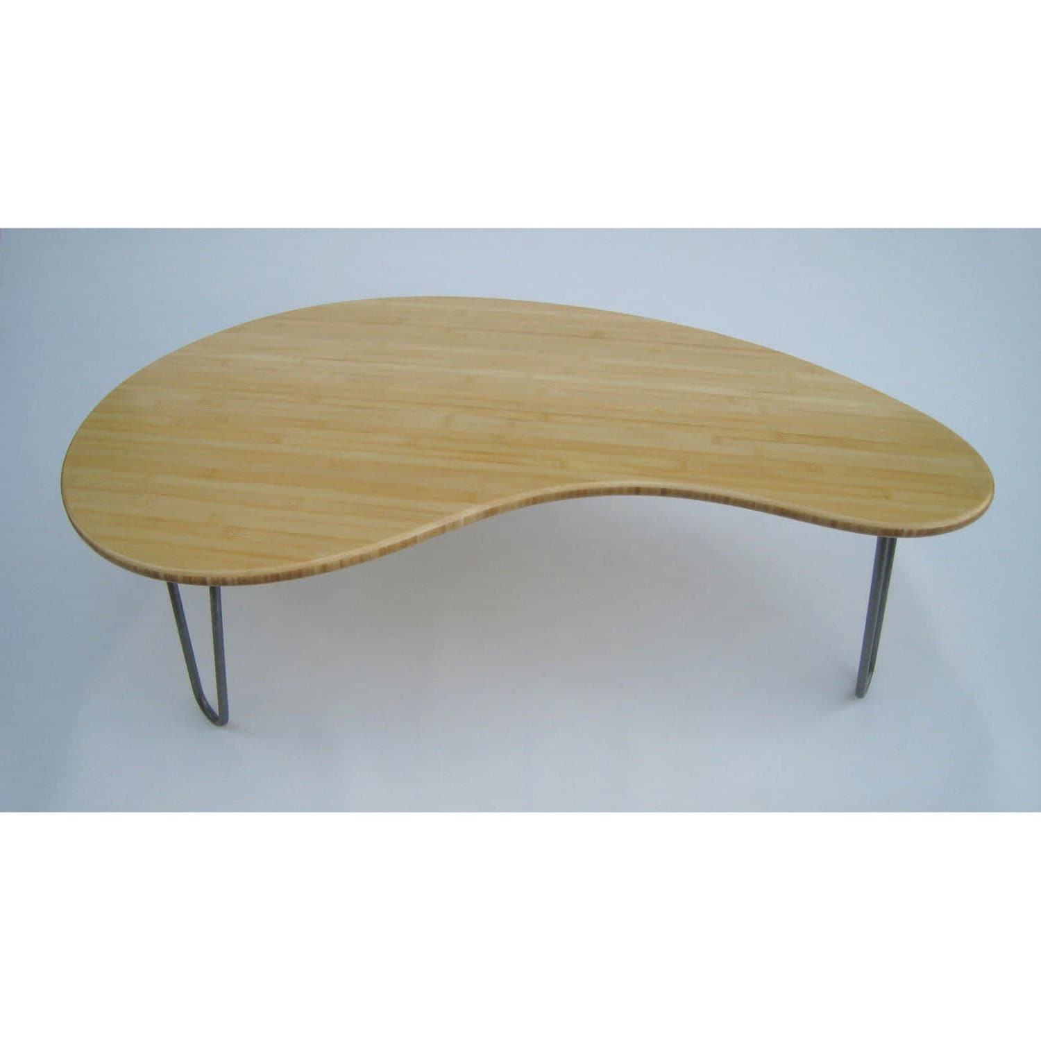 Mid Century Modern Coffee Table Kidney Bean Shaped Amorphic Etsy