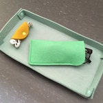 Wool Felt Simple Eyeglass Case: Assorted Colors