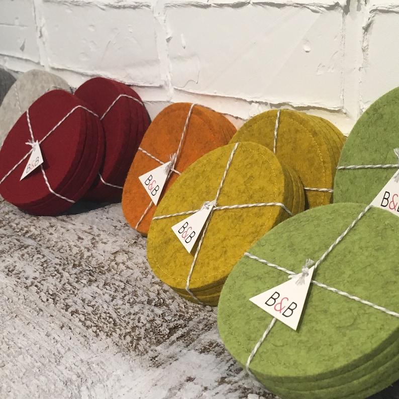 Wool Felt Coasters Set of 4: Assorted Colors image 0