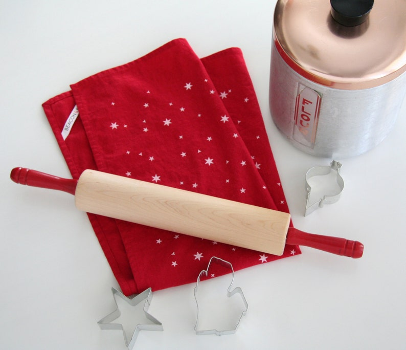 Scattered Stars Towel : Red/White image 0