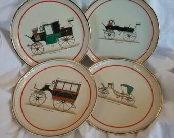 Hyalyn Porcelain Antique Car Dessert Plates Set of 4 Lot 2 & Hyalyn   Etsy