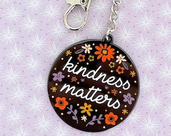 Kindness Matters Metal Keychain