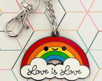 Love is Love PRIDE Rainbow Keychain