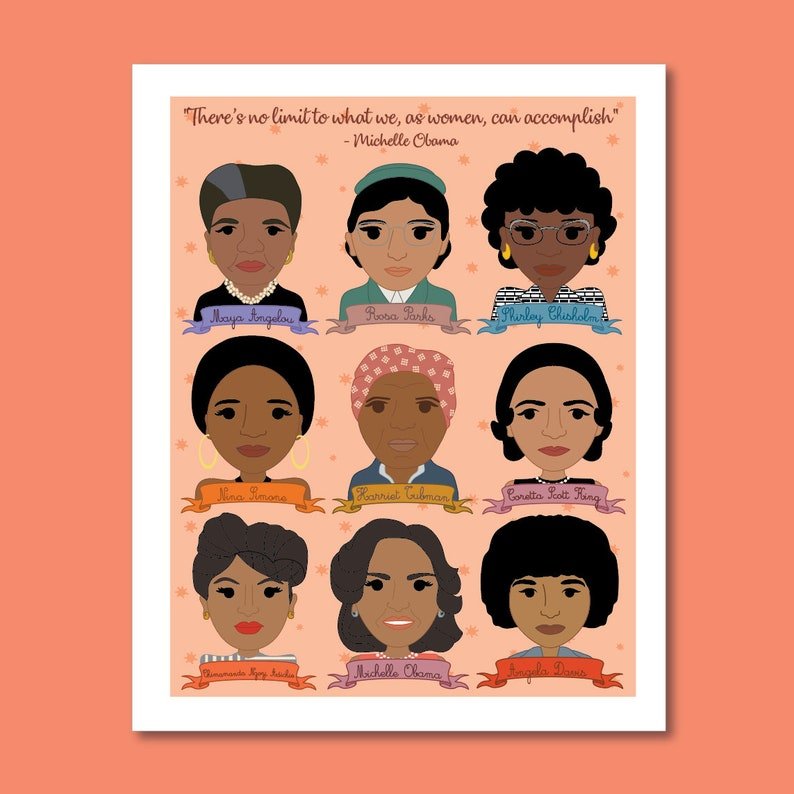 Sheroes Collection: Famous Women in Black History 8x10 Art image 0