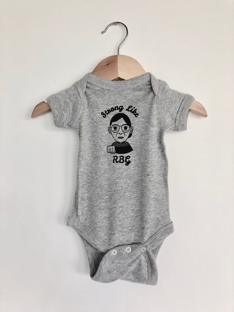aff2bb6bf Strong like RBG Ruth Bader Ginsburg Baby Gray One Piece | Etsy