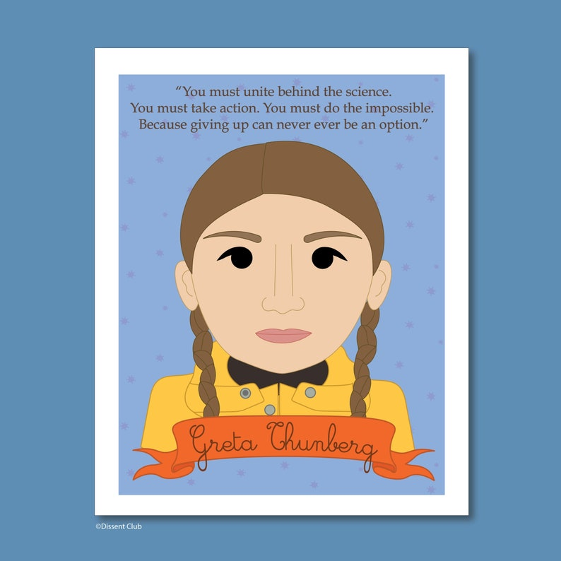 Sheroes Collection: Greta Thunberg 8x10 Art Print image 0