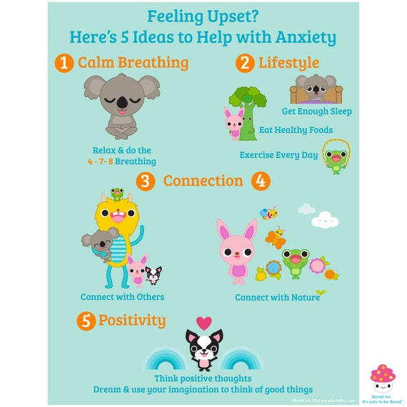 Anti Anxiety Health And Well Being Poster For Home Or School Etsy