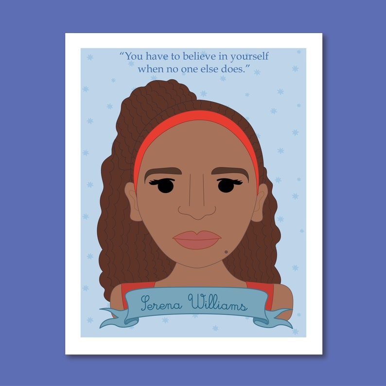 Sheroes Collection: Serena Williams 8x10 Art Print image 0