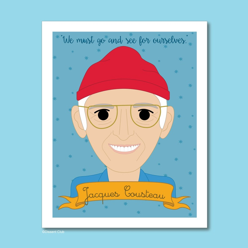 Heroes Collection: Jacques Cousteau 8x10 Art Print image 0