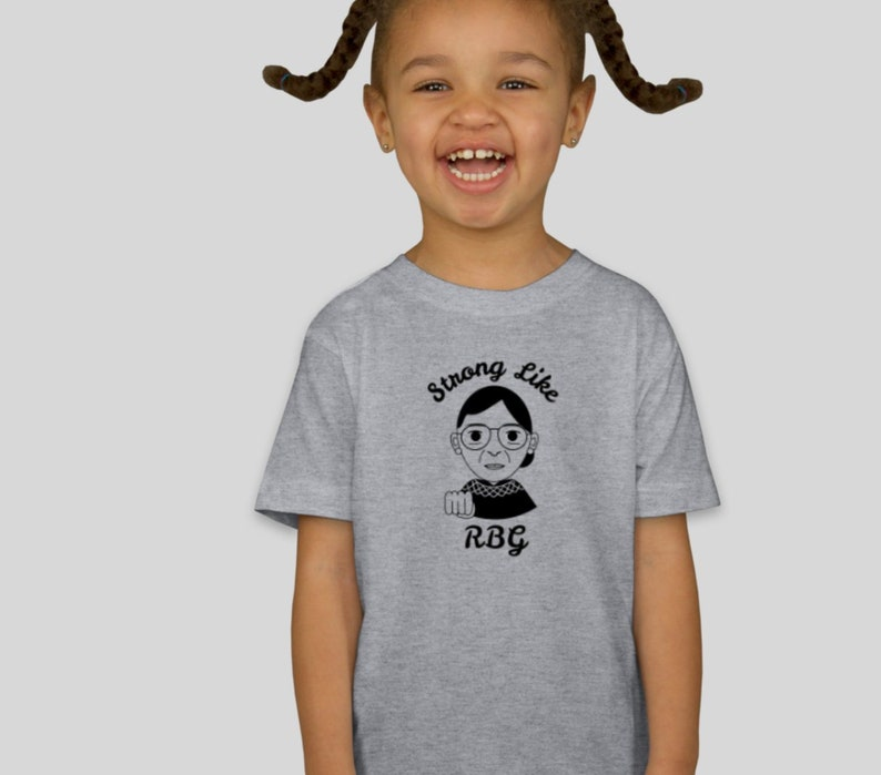 8d996a3b1 Strong Like RBG Ruth Bader Ginsburg Toddler Tee | Etsy