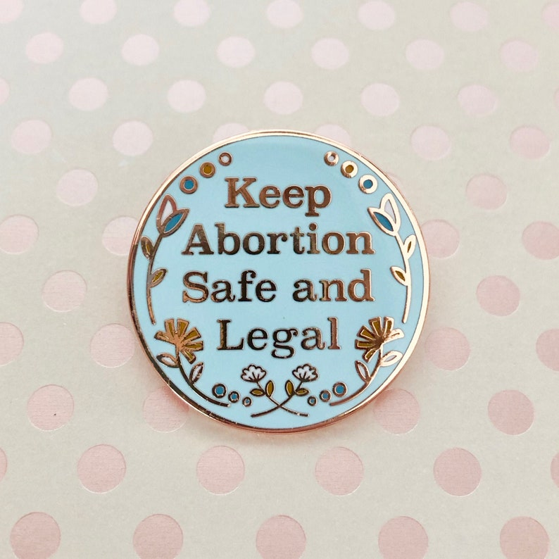 Keep Abortion Safe and Legal Enamel Pin Planned Parenthood image 0