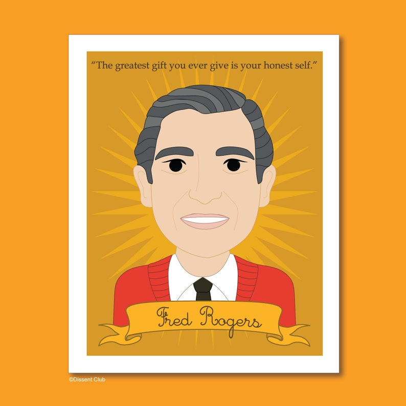 Heroes Collection: Fred Rogers 8x10 Art Print image 0