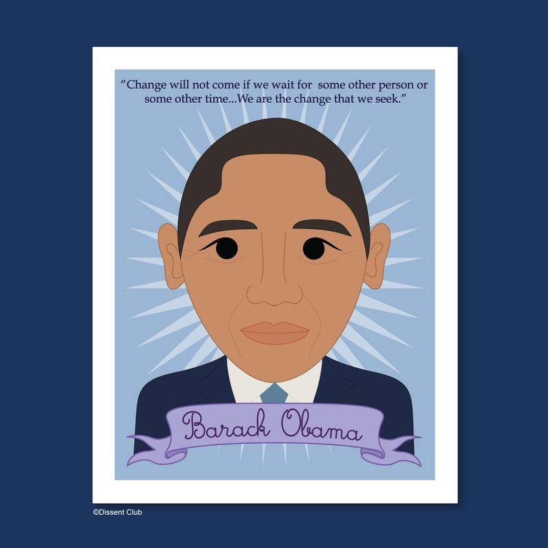 Heroes Collection: Barack Obama 8x10 Art Print image 0