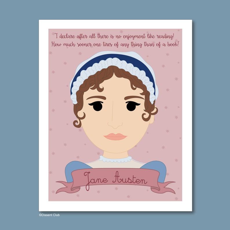 Sheroes Collection: Jane Austen 8x10 Art Print image 0