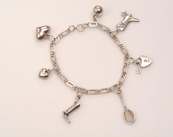 All Sterling CHARM BRACELET with lots of room for additions