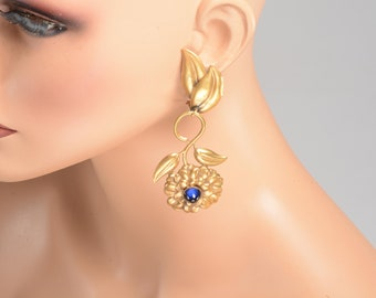 Dramatic Joseff of Hollywood Statement Glamour:  5.5 inches Long Earrings - Runway Ready
