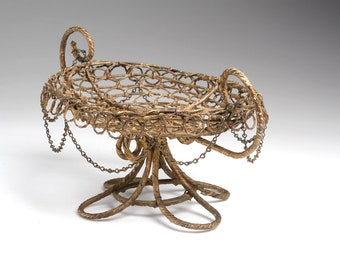 Complex Antique Wirework COMPOTE:  complete and undamaged