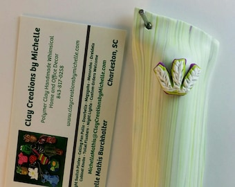 Mezuzah Green and White with a hint of  Pale purple (#211)