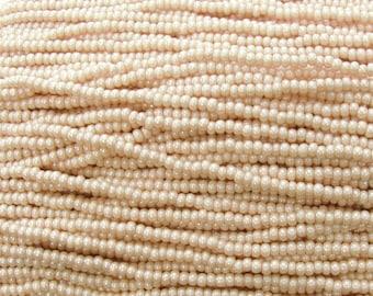 8/0 Opaque Blush Terra Colorfast Czech Glass Seed Bead Strand (CW92)