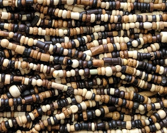 ELK TEETH CARVED BUFFALO BONE BEADS PENDANTS CRAFTS POW WOW Rendezvous T1