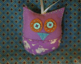 Boho Owl Christmas Ornament
