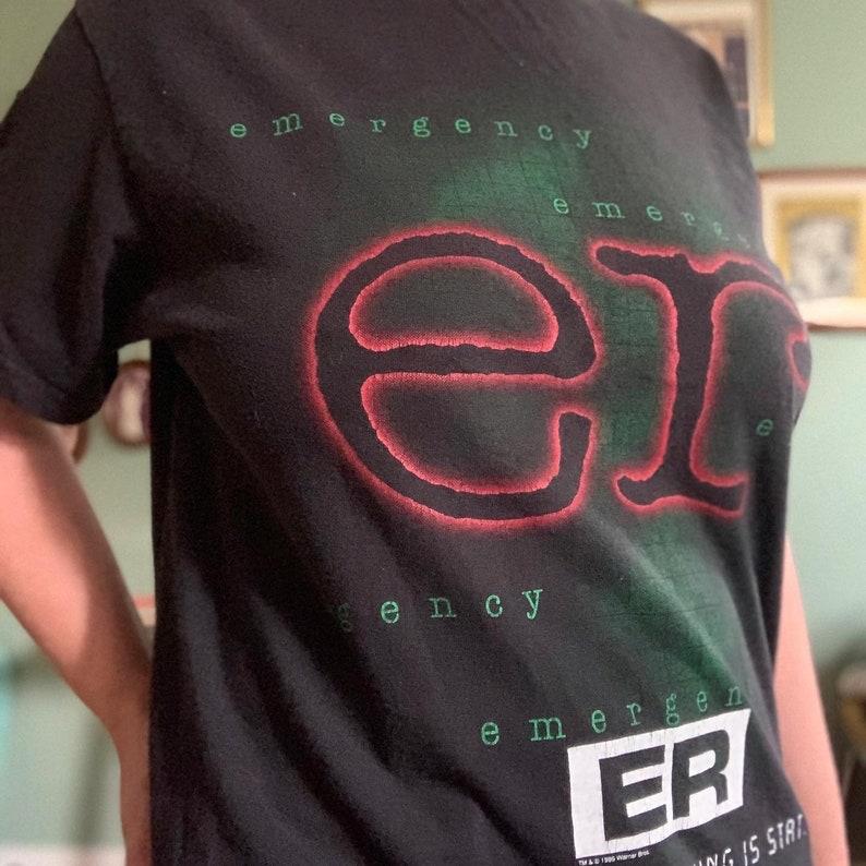 Vintage 90s hit tv show ER \u201c Where everything is stat\u201d hospital vintage tee