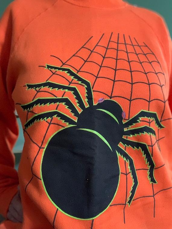 Vintage 90s Halloween spooky spiderweb sweatshirt