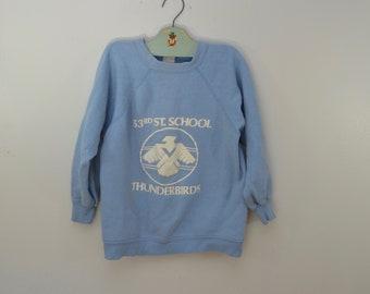 Vintage 53rd ST. SCHOOL MILWAUKEE sweatshirt 1960's 70's Velva Sheen youth 14-16