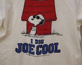096250625 Vintage SNOOPY Joe Cool ringer t-shirt 1958 USA peanuts