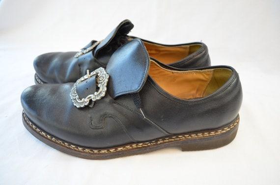 Vintage chaussures chaussures chaussures aspirer avec lourds de la Suisse allemande sz 10 1/2 boucles hommes | Belle Et Charmante  600ee5