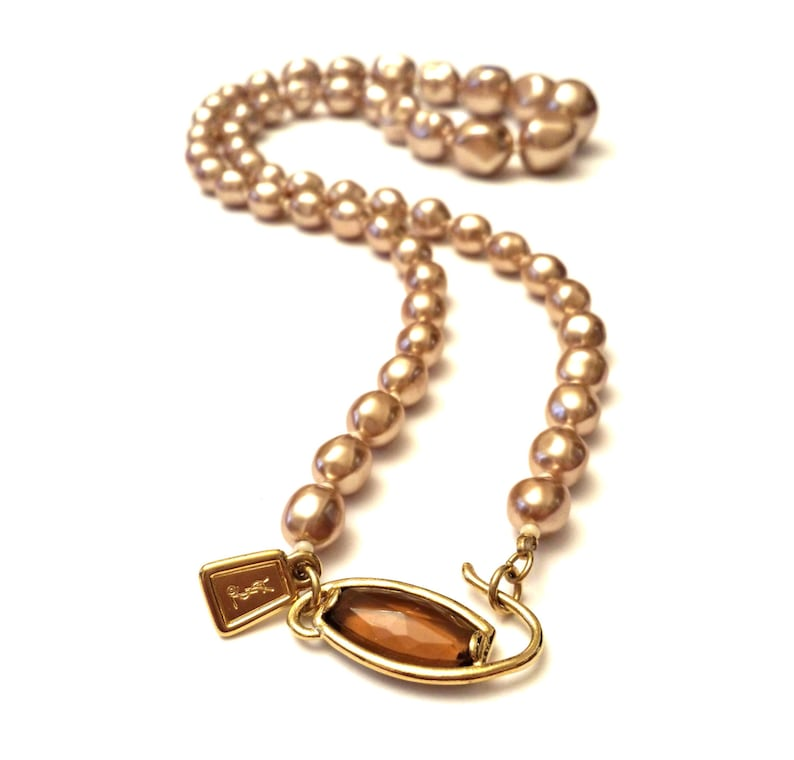 3b302b42ed6 YSL Pearl Necklace Yves Saint Laurent Baroque Pearls image 0 ...