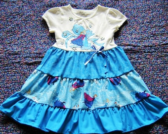 64aeba79336d Boutique Girls Frozen Elsa & Anna Dress 2T 3T 4T 5T 6 7 Top Skirt Jeweled