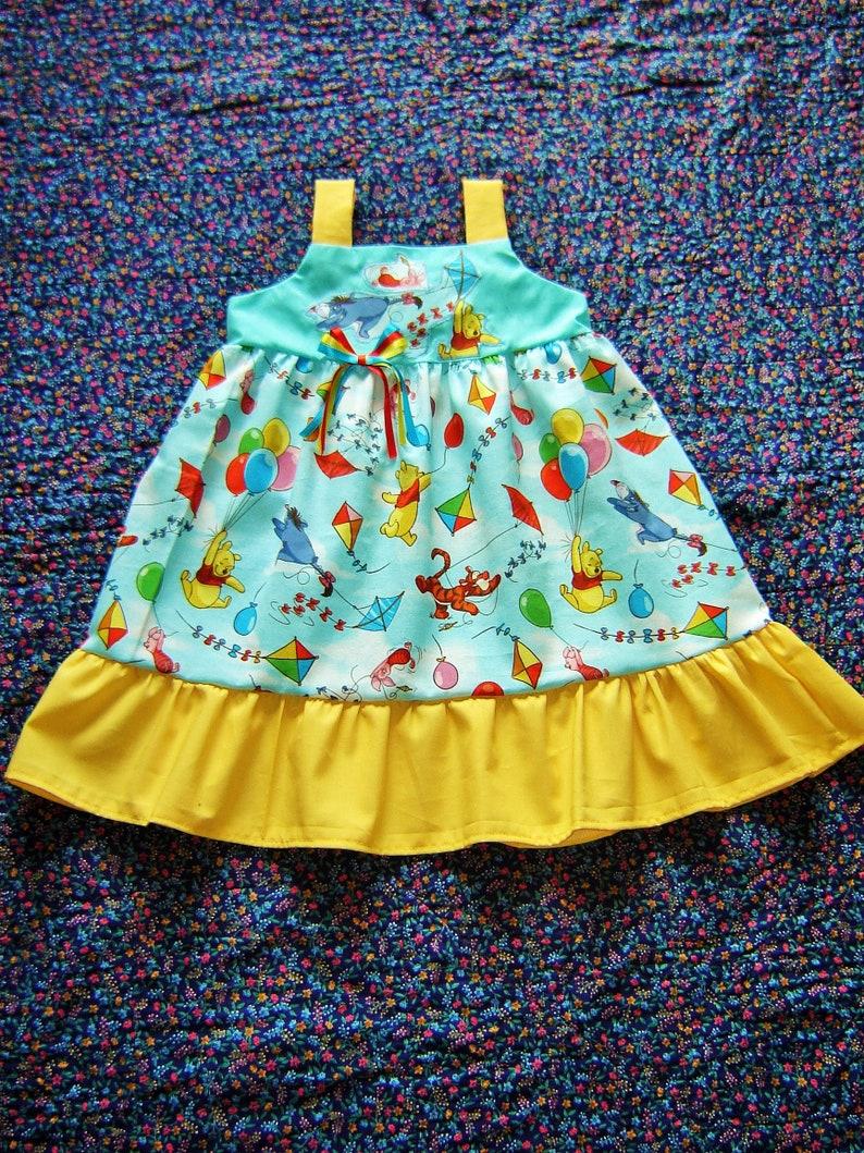 e3d6a97737a Boutique Winnie the Pooh Dress 6m 12m 18m 2T 3T 4T Eeyore