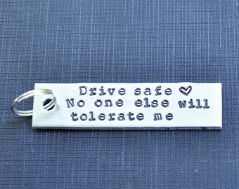 Funny Valentine's Day Gift . Valentines Day Gift for Him . Funny Husband Gift . Funny Boyfriend Gift . Drive Safe Keychain . Funny Guy Gift