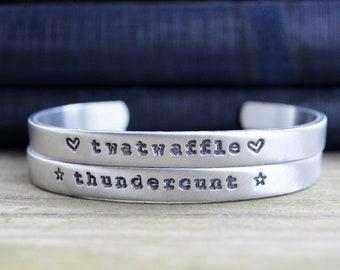 Best Friend Gift - Funny Best Friend Gift - Twatwaffle and Thundercunt Bracelet Set - Funny Bracelet - Funny Gift - Work Wife Gift