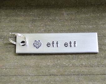 BFF Keychain . Best Friend Gift . Funny Best Friend Gift . Work Wife Gift . Bee Keychain . Best Friend Keychain . Gifts Under 20