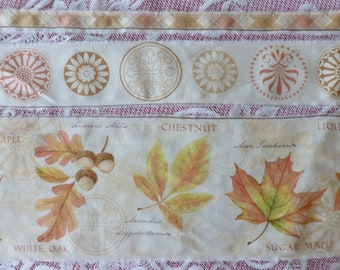 Trio of Fall Fabric Ribbons, Ready for your Fall Crafting/Sewing Projects!  Autumn Crafting Ideas, Set of Three!