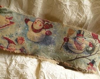 Very Vintage Inspired Altered Christmas Handmade Ribbon