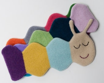 Kevin Caterpillar Lambswool Scarf - Made to order