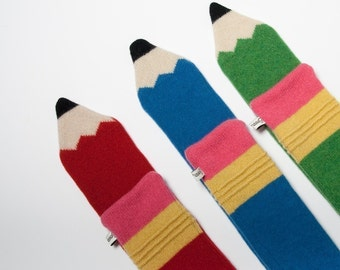 Children's Lambswool Pencil Scarf - Made to order