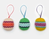 Lambswool Knitted Bauble Tree Decoration - In stock