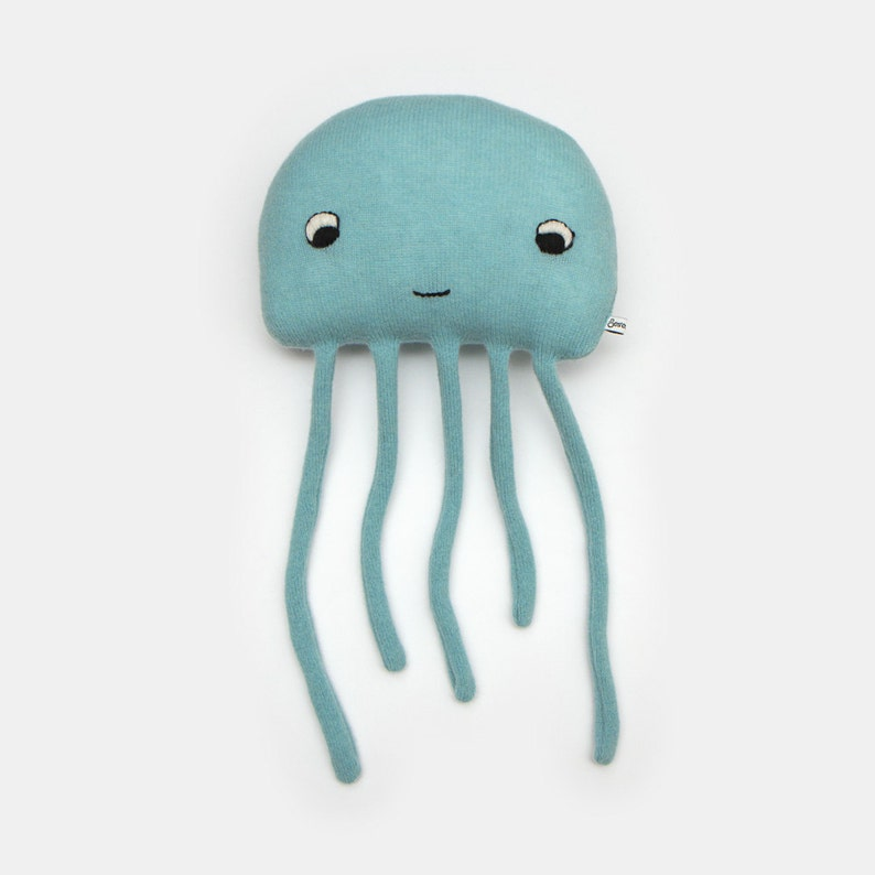 Harold the Jellyfish Lambswool Plush Toy  Made to order image 0