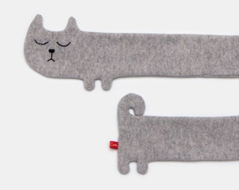 Cat Lambswool Scarf - Made to order
