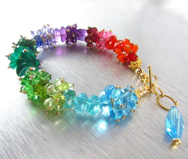 Rainbow Bracelet 20 /% Off Mixed Gemstone Bracelet