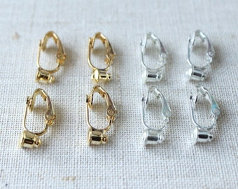 f1f00730b Clip on earring converter, studs to clip on earrings, stud to clips, NICKEL  LEAD FREE comfortable clip on earrings, silver or gold plated