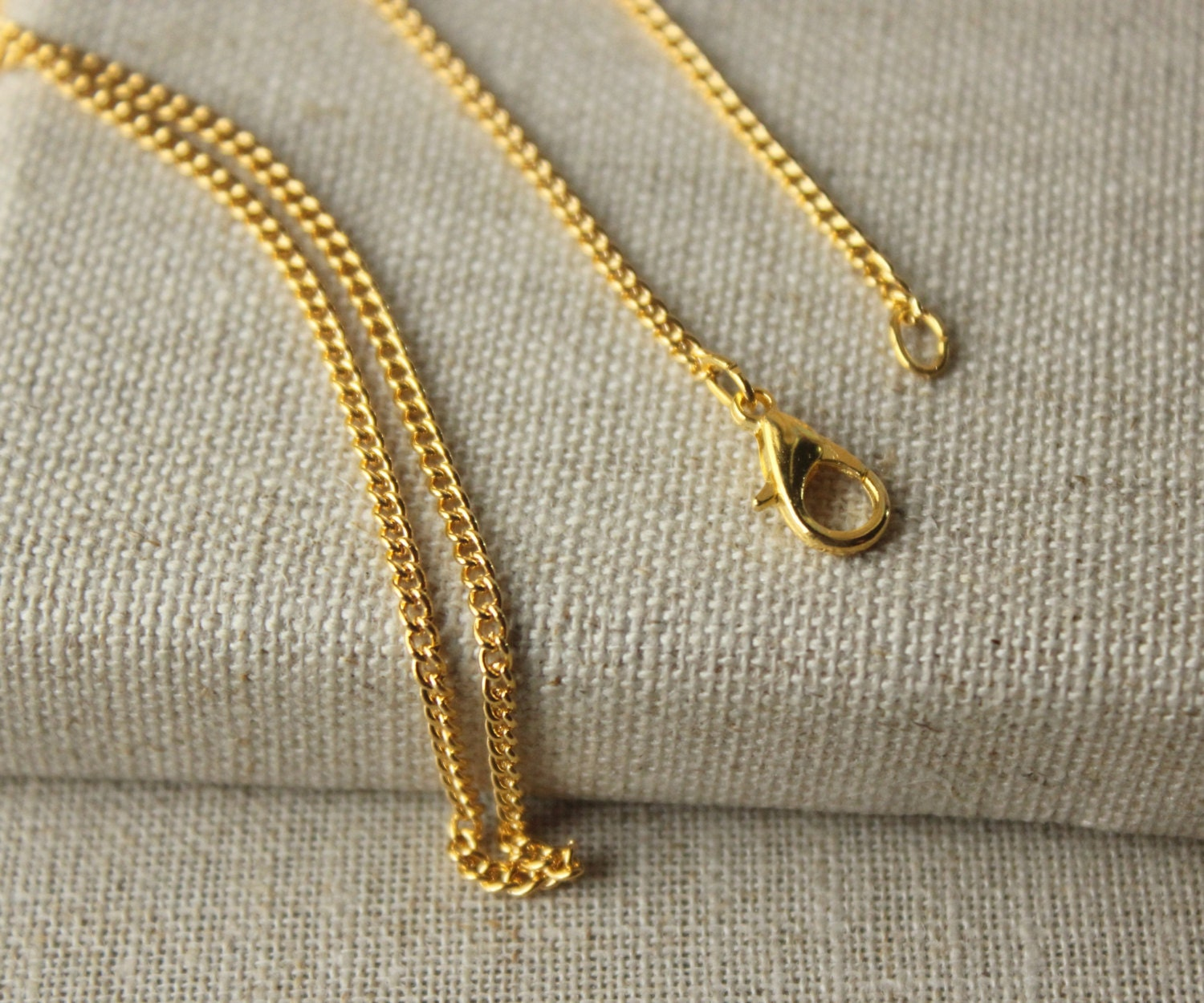 24 inch Fine Gold Chain Necklace 61cm or 24 thin Gold  396cac9f85c3