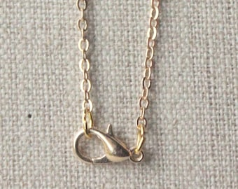 Thin Gold chain necklace, narrow gold necklace chain, choose 14 - 50 inch small 2mm gold oval links, good quality plated chain SF122