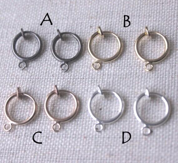 f880229ee Clip on earring hoops clip hoops dangle clip converters | Etsy