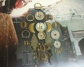 Vintage Findings BIG Lot Assorted Mother of Pearl Buttons Belgian Coins Brass Jewelry Components