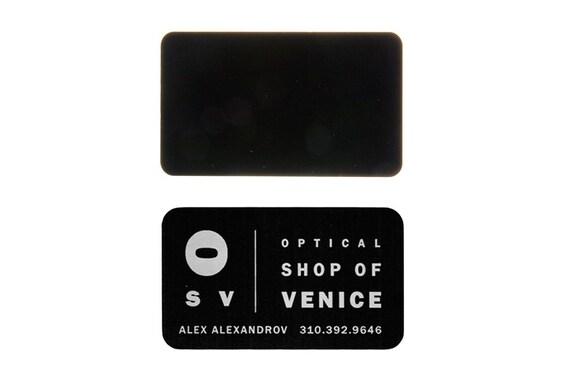 Dicke Laser Geätzte Metall Visitenkarten Eloxierte Aluminium Visitenkarten Angepasst Mit Ihrer Grafik